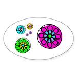 Fibonacci Flower Power Sticker (Oval 10 pk)