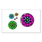 Fibonacci Flower Power Sticker (Rectangle)