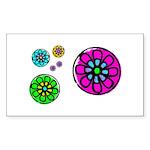 Fibonacci Flower Power Sticker (Rectangle 50 pk)
