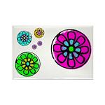 Fibonacci Flower Power Rectangle Magnet