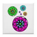 Fibonacci Flower Power Tile Coaster