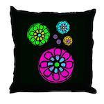 Fibonacci Flower Power Throw Pillow