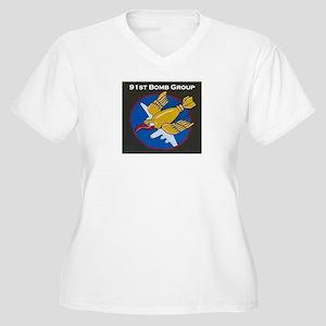 91st Bomb Group Women's Plus Size V-Neck T-Shirt