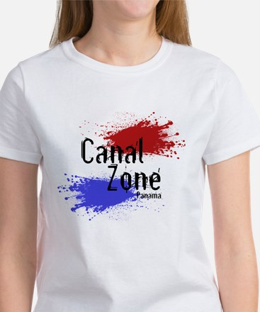 Stylized Panama Canal Zone Women's T-Shirt
