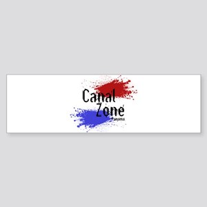 Stylized Panama Canal Zone Sticker (Bumper)