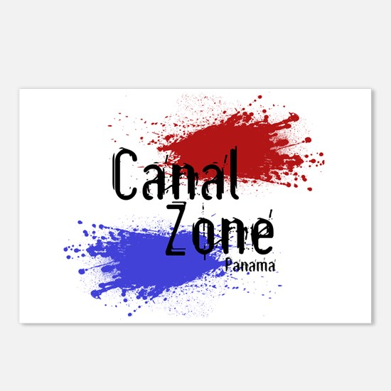 Stylized Panama Canal Zone Postcards (Package of 8