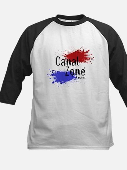 Stylized Panama Canal Zone Kids Baseball Jersey