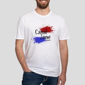 Stylized Panama Canal Zone Fitted T-Shirt
