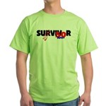 SURVIVOR - 50MPH+ Green T-Shirt