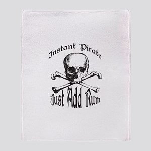 Instant Pirate Throw Blanket