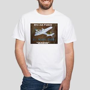 """B-17 """"Queenie"""" White T-Shirt"""