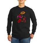 Fibonacci Lips Long Sleeve Dark T-Shirt