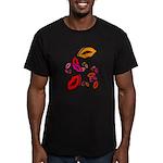 Fibonacci Lips Men's Fitted T-Shirt (dark)