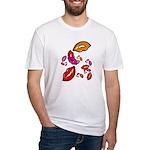 Fibonacci Lips Fitted T-Shirt