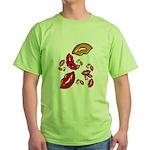 Fibonacci Lips Green T-Shirt