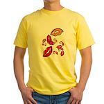 Fibonacci Lips Yellow T-Shirt