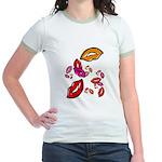 Fibonacci Lips Jr. Ringer T-Shirt