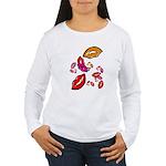 Fibonacci Lips Women's Long Sleeve T-Shirt
