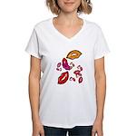 Fibonacci Lips Women's V-Neck T-Shirt
