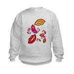 Fibonacci Lips Kids Sweatshirt