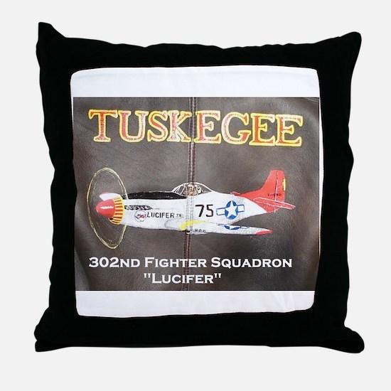 Tuskegee P-51 Throw Pillow