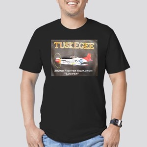 Tuskegee P-51 Men's Fitted T-Shirt (dark)