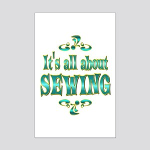 About Sewing Mini Poster Print