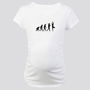 The Evolution Of Yoga Maternity T-Shirt