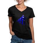 Fibonacci Robots Women's V-Neck Dark T-Shirt