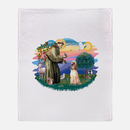 St.Francis #2/ Afghan Hound Throw Blanket