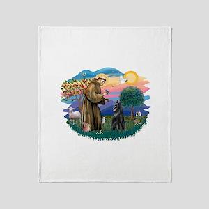 St.Francis #2/ Belgian Shep Throw Blanket