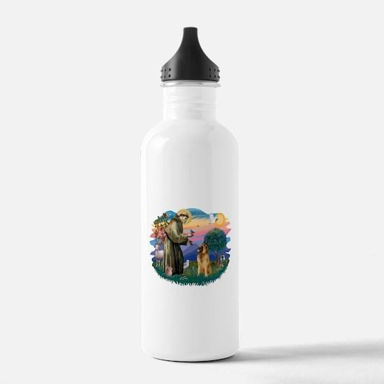 St Francis #2/ B Tervuren Water Bottle