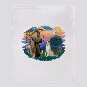 St Francis #2/ Borzoi Throw Blanket