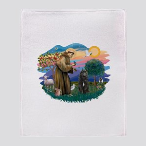 St Francis #2/ Bouvier Throw Blanket