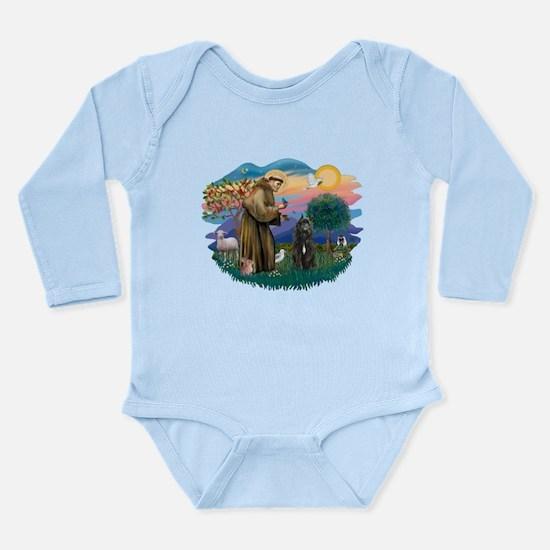 St Francis #2/ Bouvier Long Sleeve Infant Bodysuit
