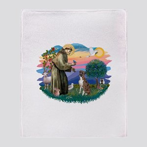 St.Francis #2/ Boxer (nat ea Throw Blanket