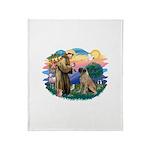St.Francis #2/ Bull Mastiff Throw Blanket