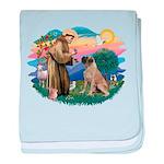 St.Francis #2/ Bull Mastiff baby blanket
