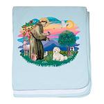 St.Francis #2/ Coton De Tulea baby blanket
