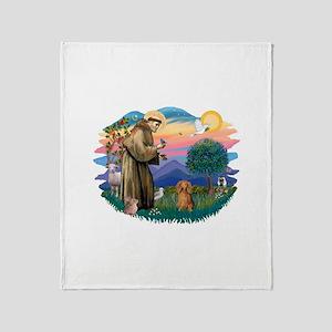 St.Fran #2/ Dachshund (LH-S) Throw Blanket