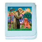 Saint Francis' Golden baby blanket