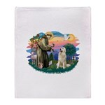 St.Francis #2/ Pyrenees #1 Throw Blanket
