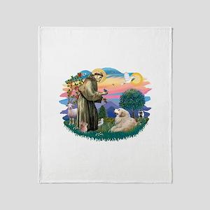 St.Francis #2/ Pyrenees#2 Throw Blanket