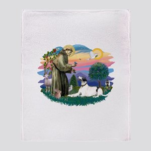 St.Francis #2/ Greyhound Throw Blanket