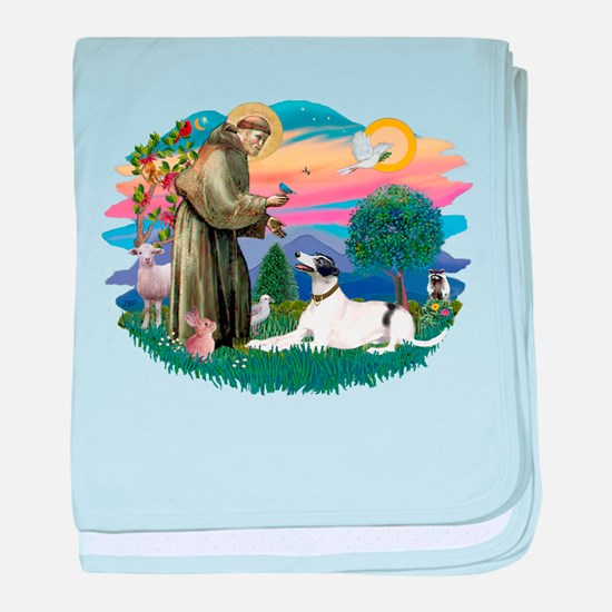 St.Francis #2/ Greyhound baby blanket