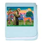 St Francis / Greyhound (f) baby blanket
