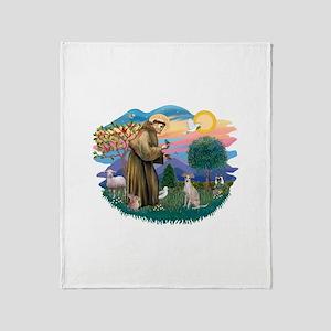 St.Francis #2/ Ital Grey (f) Throw Blanket