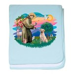 St.Francis #2/ Yellow Lab baby blanket