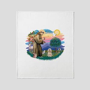 St.Francis #2/ Lhasa Apso (# Throw Blanket
