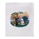 St.Francis #2/ Old English (# Throw Blanket